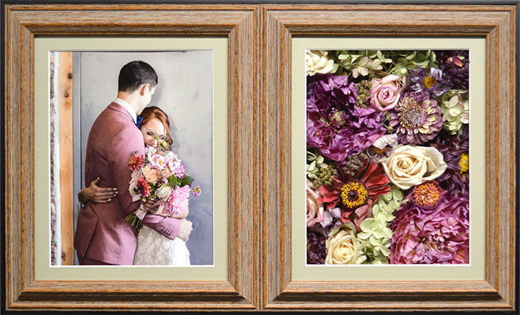 Double Pane Pavé Shadow Box for your preserved wedding bouquet or funeral flowers.