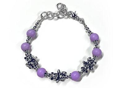Lavender Preserved Flower Petal Bracelet