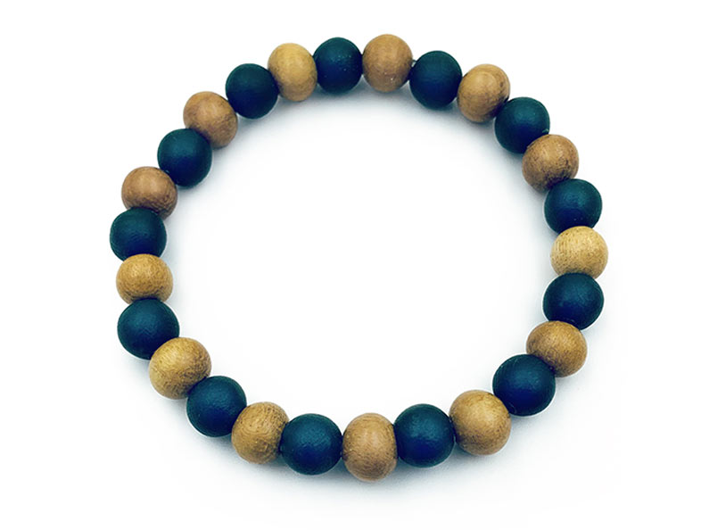 Our new stretch bracelets are a comfortable way to wear your preserved flower petal jewelry.