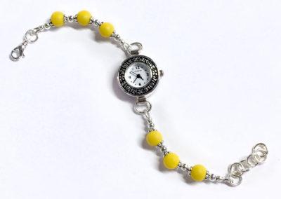 Yellow Sunflower Petal Bracelet Watch