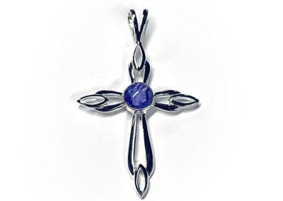 Violet Preserved Flower Necklace Pendant