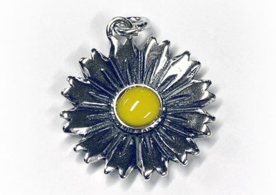 Preserved Sunflower Necklace Pendant