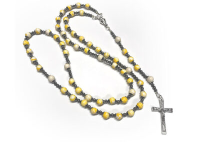 Yellow Preserved Flower Petal Rosary