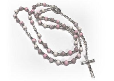 Pink Preserved Flower Petal Rosary