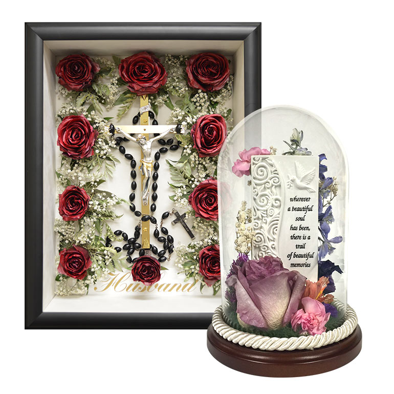 Flower preservation for funerals and memorials.