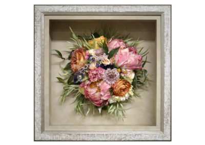 Preserved Wedding Bouquet in a Shadow Box