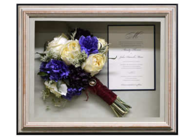 Preserved Wedding Bouquet Flowers in a Shadow Box