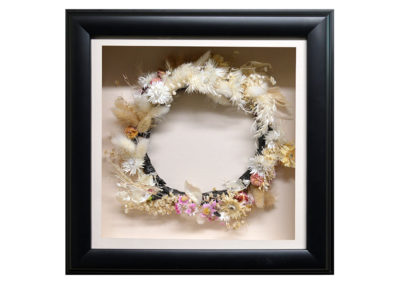 Shadow Box w/ Preserved Floral Wreath