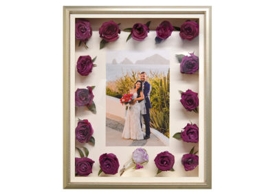Shadow Box w/ Preserved Red Rose Wedding Flowers