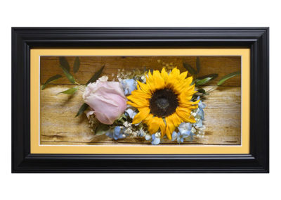 Shadow Box w/ Preserved Sunflowers