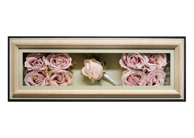 Shadow Box w/ Preserved Pink Roses
