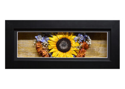 Shadow Box w/ a Preserved Sunflower Arrangement