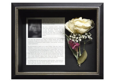 Preserved Memorial Flowers in a Shadow Box