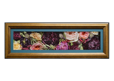 Pavé Shadow Box w/ Preserved Roses