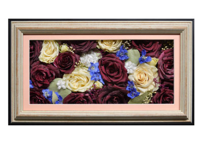 Pavé Shadow Box w/ Preserved Rose Bouquet Flowers
