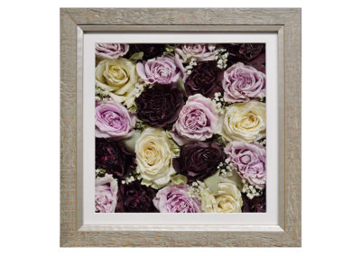 Pavé Shadow Box w/ Preserved Rose Bouquet