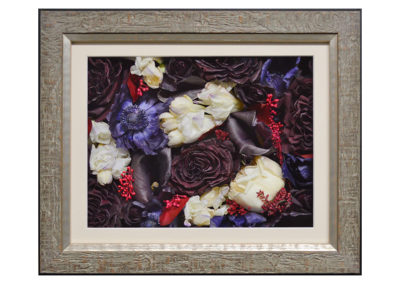 Pavé Shadow Box w/ Preserved Bridal Bouquet Flowers