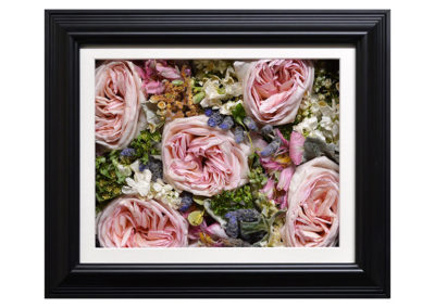 Pavé Shadow Box w/ Preserved Pink Peonies