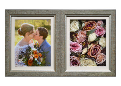Double Frame Pavé Shadow Box w/ Preserved Wedding Flowers