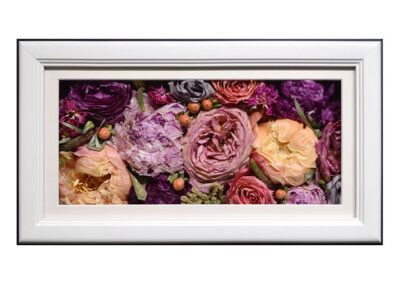 Pavé Shadow Box w/ Preserved Wedding Flowers