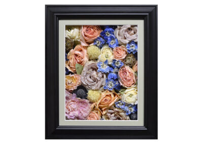 Pavé Shadow Box w/ Preserved Wedding Bouquet