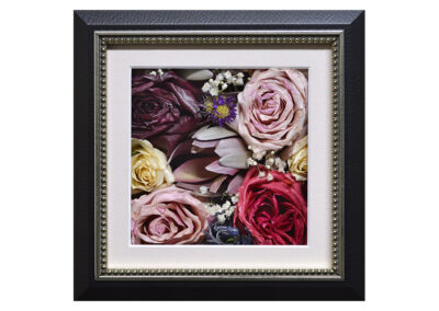 Preserved Wedding Flowers in a Pavé Shadow Box