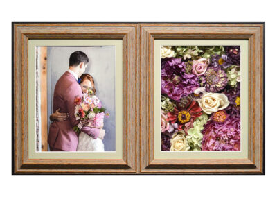 Preserved Wedding Flowers in a Double Shadow Box