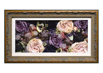 Preserved Roses in a Pavé Shadow Box