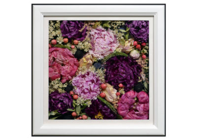 Preserved Flowers in a Pavé Shadow Box