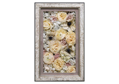 Pavé Shadow Box w/ Preserved Bouquet Flowers