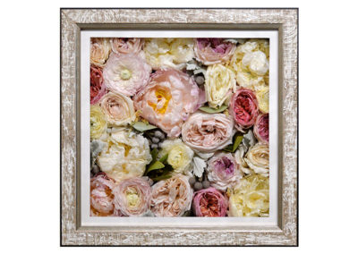 Pavé Shadow Box w/ Preserved Wedding Bouquet Flowers