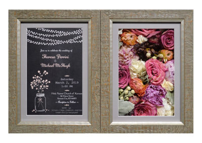 Preserved Wedding Flowers and Invitation