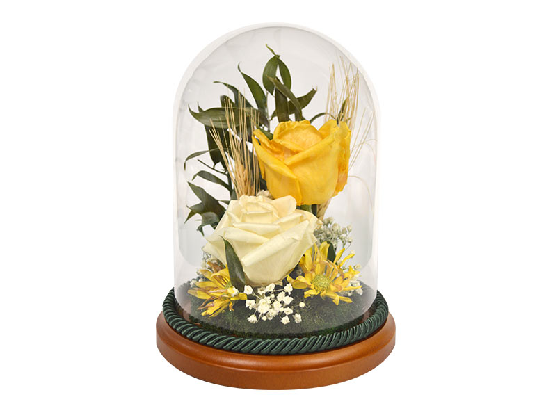 Glass encasement prices for your preserved memorial flowers, wedding flowers and more.