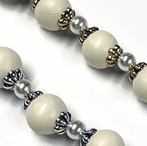 Ivory Swarovski Pearl Spacer