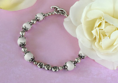 Mother's Day preserved flower petal jewelry bracelet.